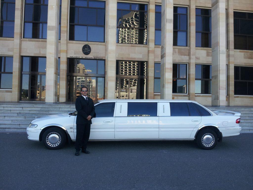 Chauffeured driven limousine